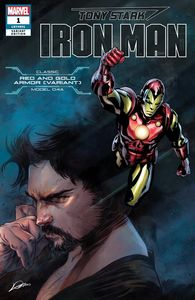 [Tony Stark: Iron Man #1 (Classic Red & Gold Armor Variant) (Nose Cover) (Product Image)]