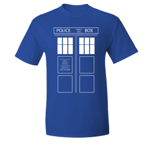 [Doctor Who: T-Shirt: TARDIS Doors (Product Image)]