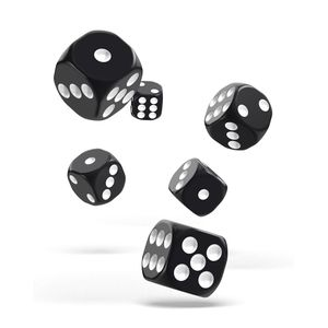 [Oakie Doakie Dice: D6 Dice 12 Set: Solid Black (Product Image)]