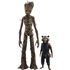 [Avengers: Infinity War: Hot Toys Action Figure: Groot & Rocket (Product Image)]