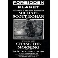 [Michael Scott Rohan signing Chase the Morning (Product Image)]