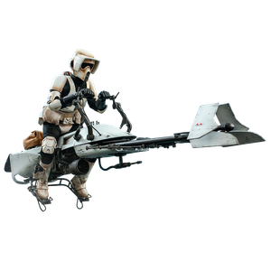 [Star Wars: The Mandalorian: Hot Toys Action Figure: Scout Trooper & Speeder Bike (Product Image)]