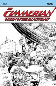 [Cimmerian: Queen Of The Black Coast #1 (Cover E Benes B&W Variant) (Product Image)]