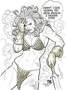 [Invincible Red Sonja #4 (Cover T Cho Virgin Variant) (Product Image)]