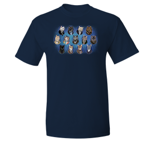 [Doctor Who: T-Shirt: Cat Doctors 1-12 By Jenny Parks (Product Image)]