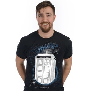 [Doctor Who: T-Shirt: Bad Wolf TARDIS (Glow In The Dark) (Product Image)]