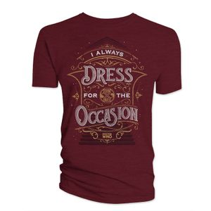 [Doctor Who: Anniversary Collection: T-Shirt: I Always Dress For The Occasion (Product Image)]