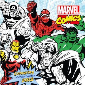 [Marvel Comics: Colouring 2018 Square Calendar (Product Image)]