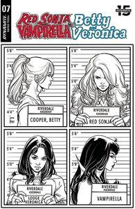 [Red Sonja & Vampirella Meet Betty & Veronica #7 (Braga Black & White Variant) (Product Image)]