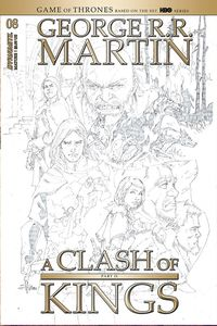 [George R.R. Martin's A Clash Of Kings #8 (Rubi Black & White Variant) (Product Image)]