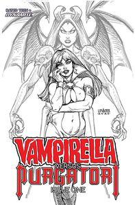 [Vampirella Vs Purgatori #1 (Black & White Incentive) (Product Image)]