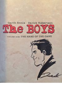 [The Boys: Volume 1: Name Of The Game (Robertson Remarked & Signed Edition) (Product Image)]