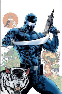 [The cover for Gi Joe: A Real American Hero (Snake Eyes Origin)]