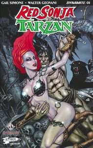 [Red Sonja/Tarzan #1 (Jetpack Forbidden Planet Jim Balent Variant) (Product Image)]