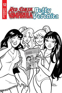[Red Sonja & Vampirella Meet Betty & Veronica #12 (Parent Black & White Variant) (Product Image)]