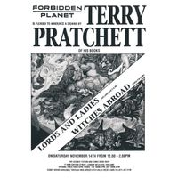 [Terry Pratchett signing Lords and Ladies (Product Image)]