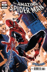 [Amazing Spider-Man #23 (Immonen Spider-Man Blue Red Suit Variant) (Product Image)]