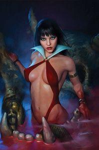 [Vampirella #23 (Cover T Maer Black & White Virgin Variant) (Product Image)]