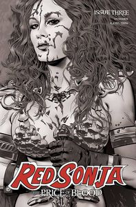 [Red Sonja: Price Of Blood #3 (Golden Black & White Variant) (Product Image)]