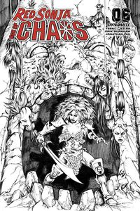 [Red Sonja: Age Of Chaos #6 (Lau Black & White Variant) (Product Image)]
