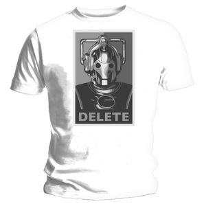 [Doctor Who: T-Shirts: Cyberman Delete (Product Image)]