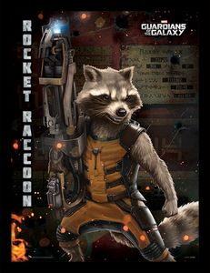 [Guardians Of The Galaxy: Framed Print: Rocket (Product Image)]