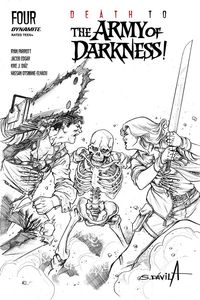 [Death To The Army Of Darkness #4 (Davila Black & White Variant) (Product Image)]