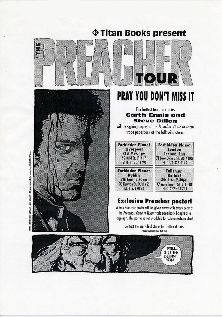 The Preacher Tour Signing