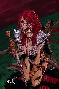 [Red Sonja: The Superpowers #1 (Federici Virgin Variant) (Product Image)]