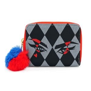[Birds Of Prey: Loungefly Zip Around Wallet: Harley Quinn x Eyes (Product Image)]