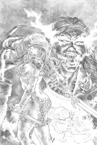 [Red Sonja: Age Of Chaos #5 (Quah Black & White Virgin Variant) (Product Image)]