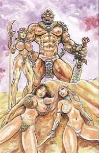 [Cavewoman: Return To Danniken (Cover B Massey Partialnude) (Product Image)]