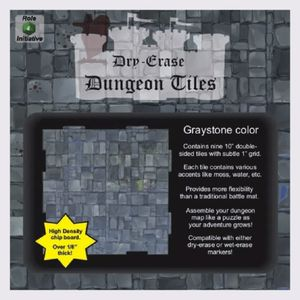 [Dry Erase: Dungeon Tiles Square Booster Pack: Greystone (Product Image)]
