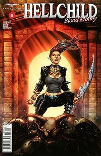 [The cover for Hellchild: Blood Money #2 (Cover A Salazar)]