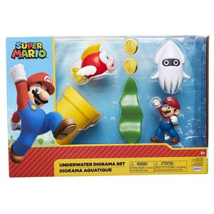 [World Of Nintendo: Action Figure Diorama Set: Super Mario Underwater (Product Image)]