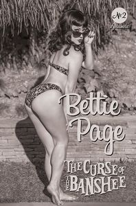 [Bettie Page: The Curse Of The Banshee #2 (Cover K Cosplay Black & White Variant) (Product Image)]