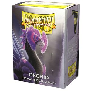 [Dragon Shield: 100 Matte Dual Sleeves: Orchid (Product Image)]