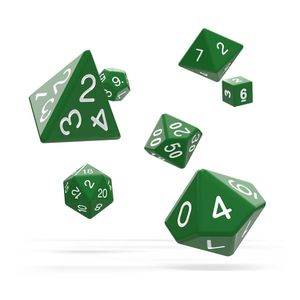 [Oakie Doakie Dice: RPG 7 Set: Solid Green (Product Image)]