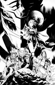 [Power Rangers: Drakkon New Dawn #1 (Mora Black & White Variant) (Product Image)]