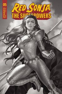 [Red Sonja: The Superpowers #5 (Premium Yoon Black & White Variant) (Product Image)]