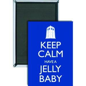 [Doctor Who: Magnet: Keep Calm & Have A Jelly Baby (Product Image)]