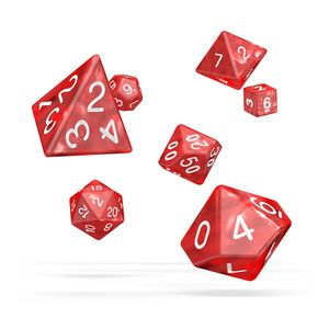 [Oakie Doakie Dice: RPG 7 Set: Marble Red (Product Image)]