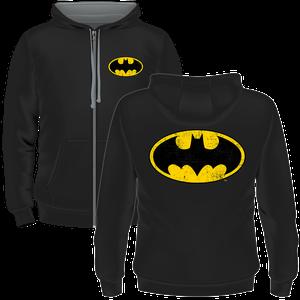 [Batman: Zipped Hoodie: Batman Logo (Product Image)]