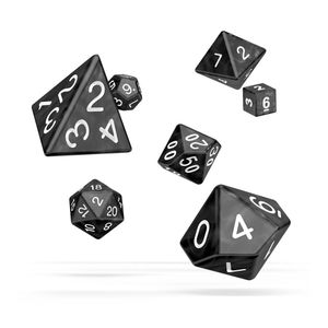 [Oakie Doakie Dice: RPG 7 Set: Marble Black (Product Image)]