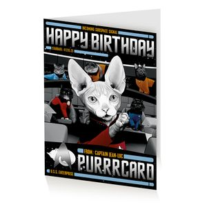 [Star Trek: The Next Generation: Greeting Card: Cats (Product Image)]