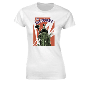 [Doctor Who: Women's Fit T-Shirt: Daleks To Victory! (Product Image)]