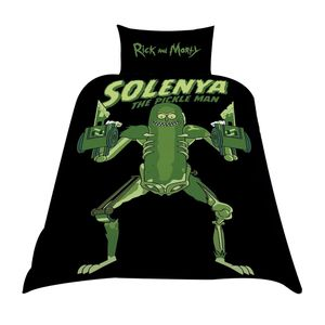 [Rick & Morty: Single Duvet Cover: Pickle Rick Rat Suit (Product Image)]