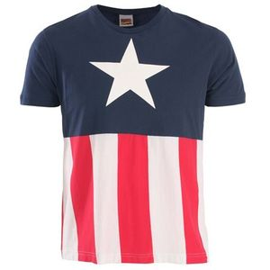 [Marvel: T-Shirt: Captain America Uniform Costume (Product Image)]