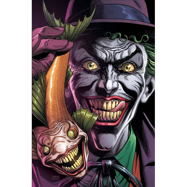 [The cover for Batman: Three Jokers #1 (Joker Fish Premium Variant)]