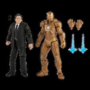 [Iron Man 3: Marvel Legends Infinity Saga Action Figure 2-Pack: Happy Hogan & Irom Man Mark 21 (Product Image)]